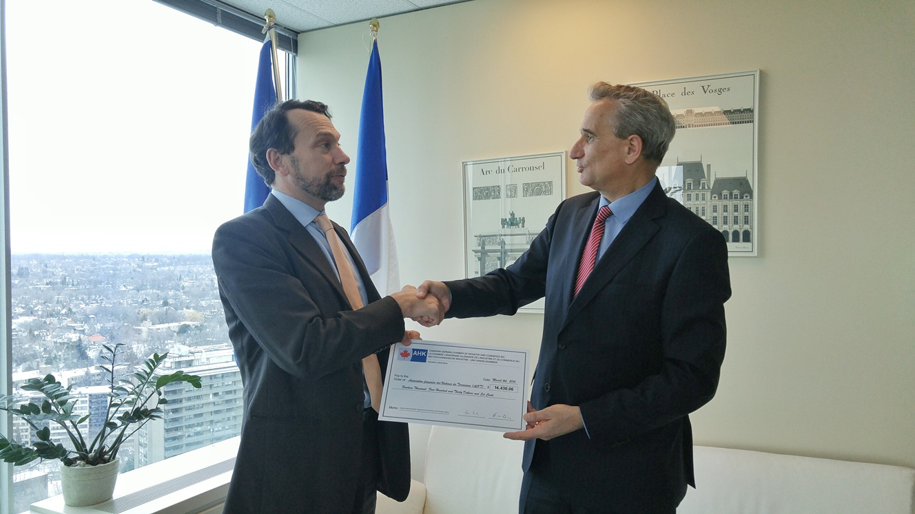 German companies in canada to support victims of the for Chambre de commerce francaise toronto
