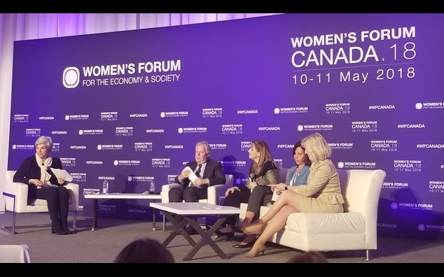 The Ambassador of France to Canada Kareen Rispal at the Women's forum